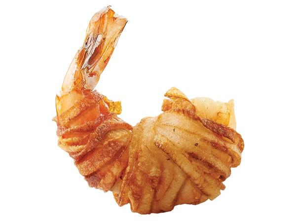 Shrimp wrapped in potato strings