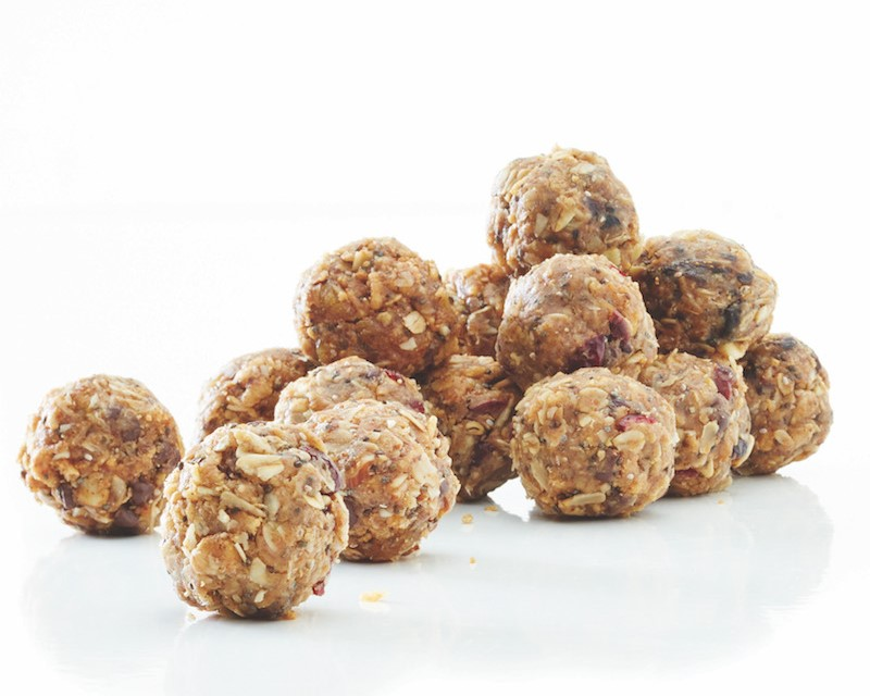 Pile of apricot-almond health balls