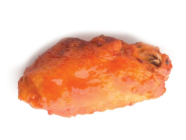 Baked chicken wings covered in pacifica sauce
