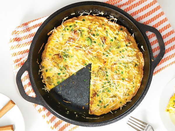 Frittata in cast iron skillet