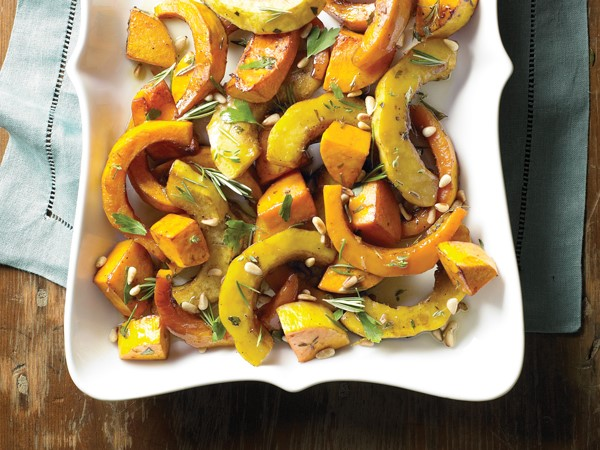 Herb roasted squash with rosemary, pine nuts, and parsley