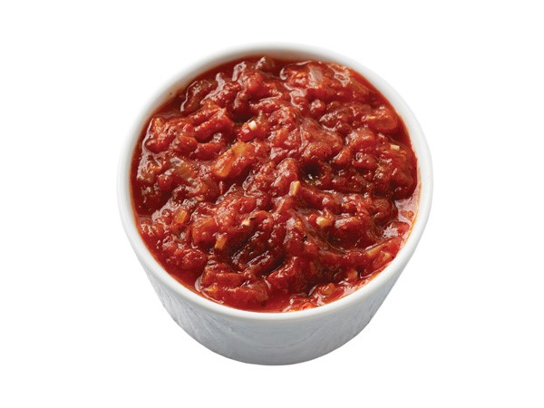 Cup of tomato marinara sauce