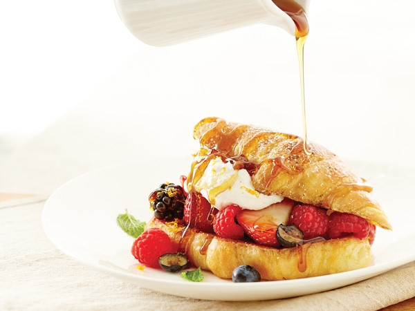 Hy-Vee croissant stuffed with berries and cream