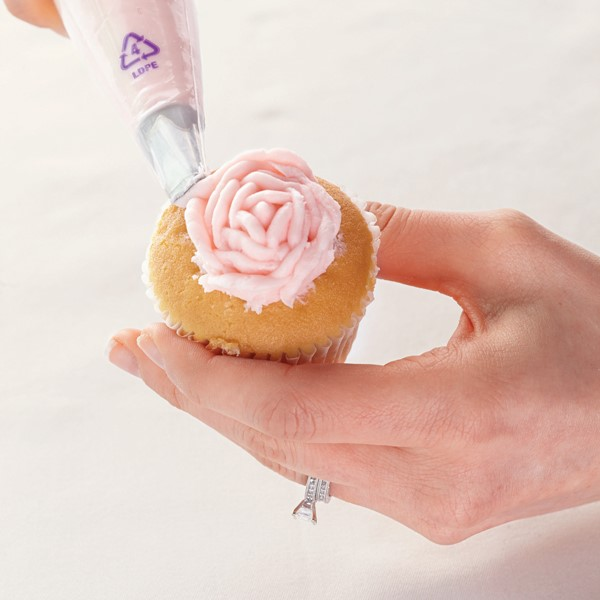 cupcake with frosted rose