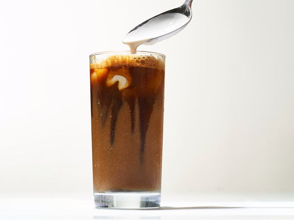 Iced coffee in tall glass