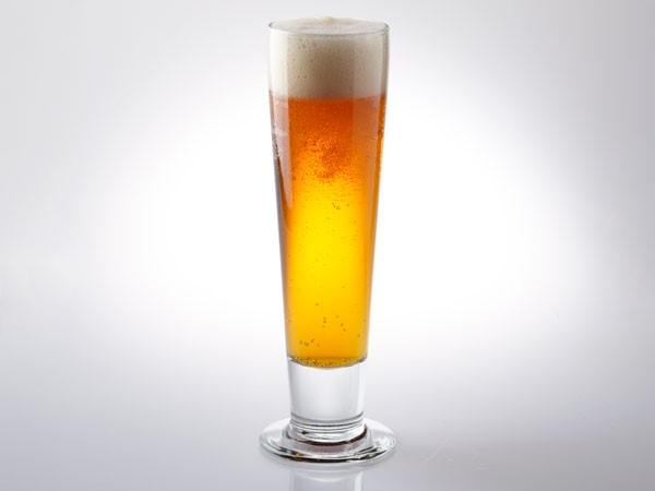 Maibock in pilsner glass