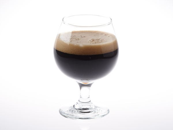Russian imperial stout beer in snifter glass