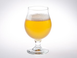 Sour beer in a tulip glass