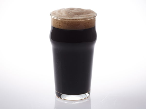 Stout beer in nonic glass
