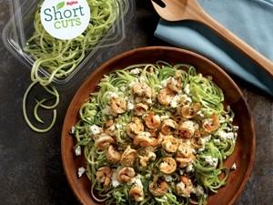 Veggie Noodle Shrimp Scampi on a plate