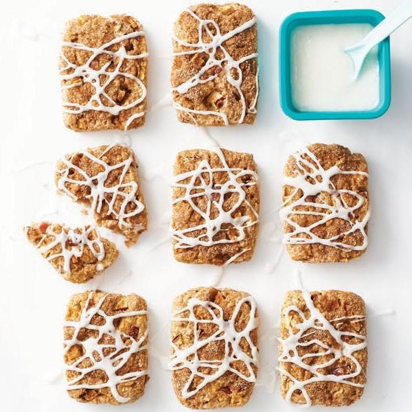 Healthy cinnamon roll apple scones