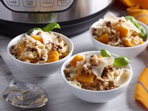 Instant Pot Risotto with cheese and butternut squash
