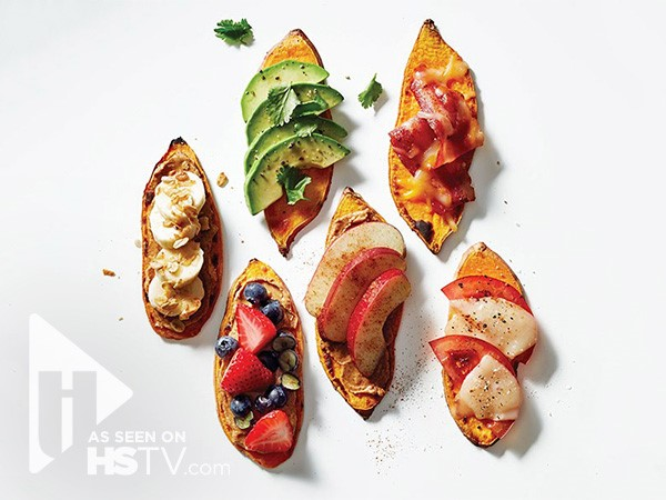 Loaded sweet potato toasts