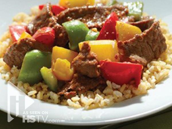 Hoisin beef and pepper stir fry