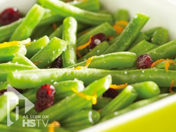 Holiday Green Beans with cranberries
