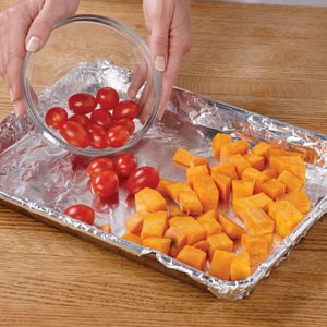Place vegetables on foil-lined sheet pan