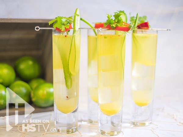 Mango Chili Sangria in a glass