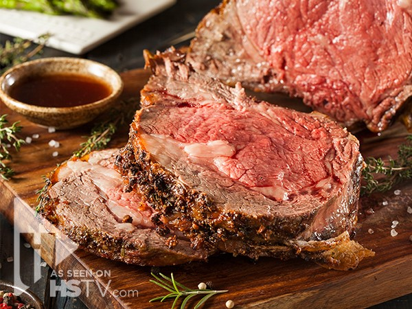 Herb salt crusted prime rib