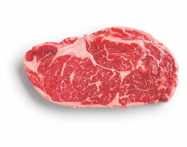 Hy-Vee Prime Reserve Rib Eye with superior marbling