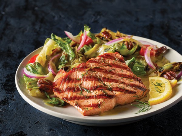 Grilled Whiskey Salmon Salad Hy Vee