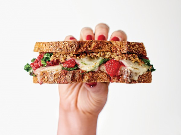Raspberry-Swiss Grilled Cheese