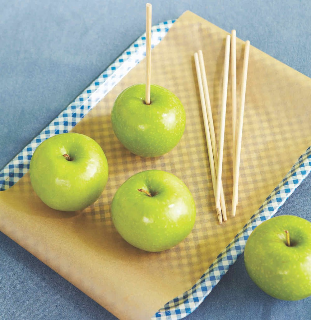 Apple with Wooden Skewers
