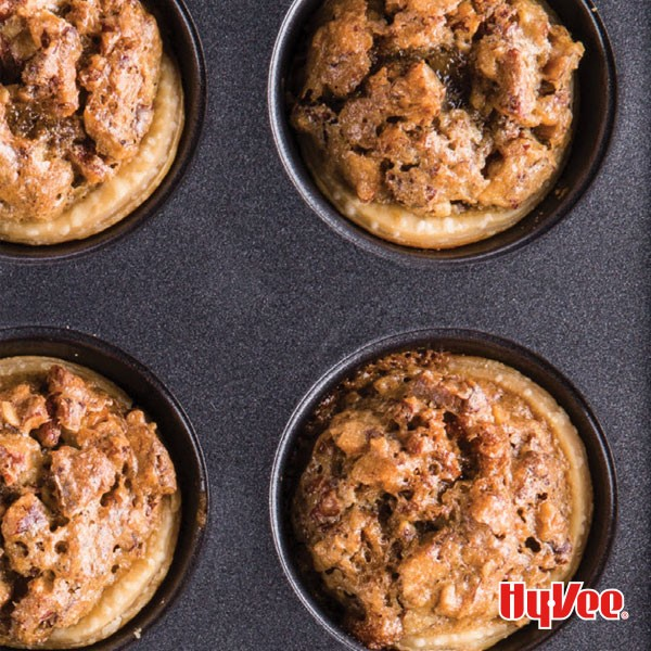 Pecan tassies in a muffin pan