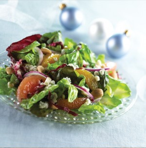Plate of Citrus Salad with Honey-Lime Dressing