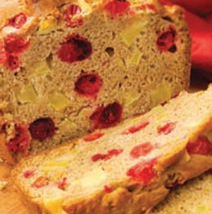 Cranberry Apple Bread Loaf with slices