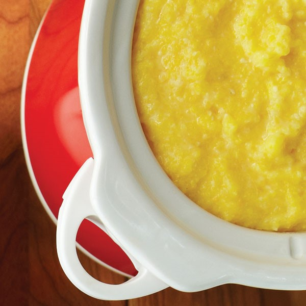 White bowl filled with Polenta