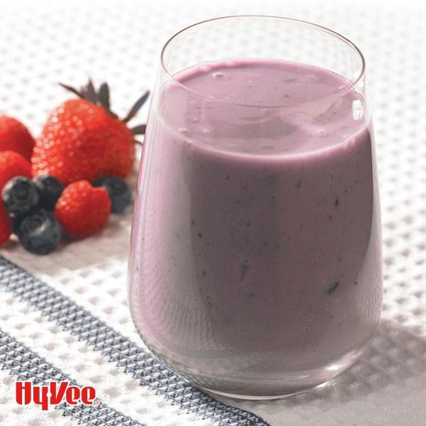 Glass of acai berry smoothie