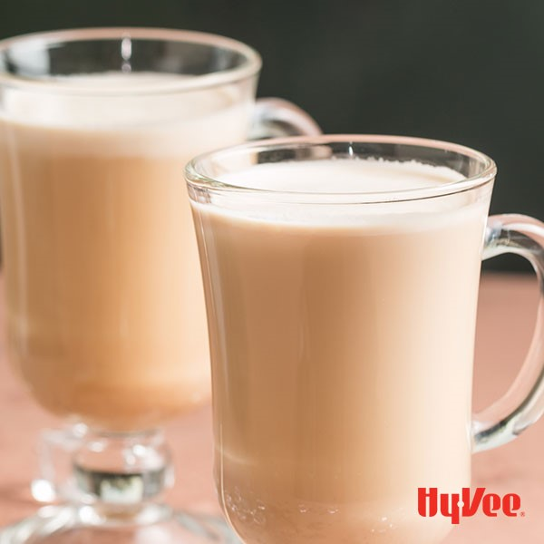 Glass mugs filled with coffee