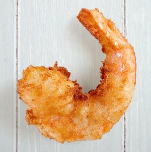 Beer-battered shrimp