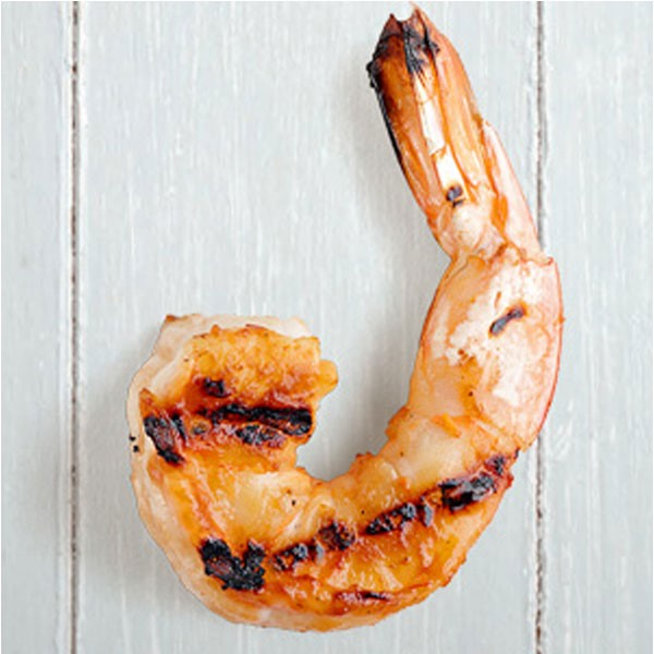 Grilled tail-on shrimp