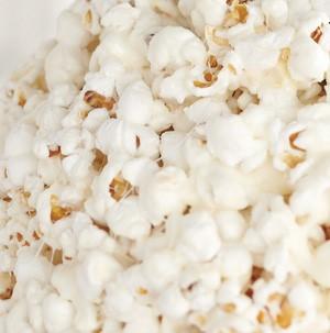 Pile of white popcorn