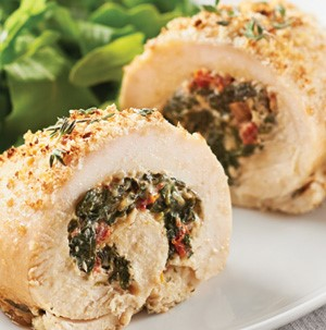 Chicken breasts stuffed with spinach and sundried tomatoes