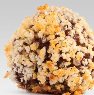 Meatball covered in breadcrumbs