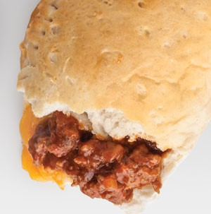 Biscuits filled with ground meat and cheese