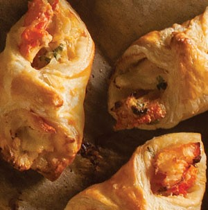 Baked crab puffs