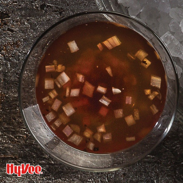 Sauce in a glass bowl