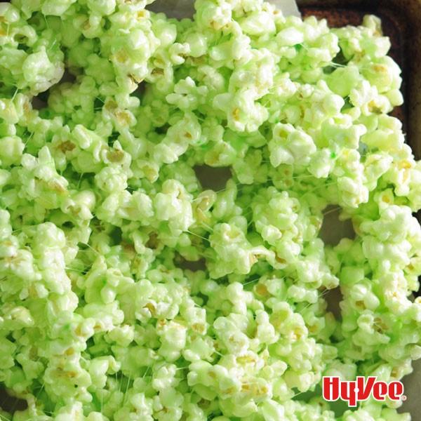 Lime-green sticky popcorn cluster
