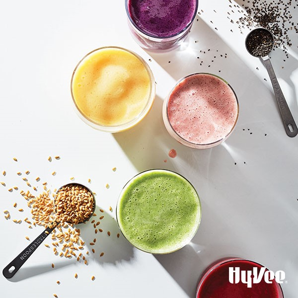 Five different smoothie creations