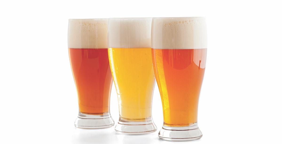 Multi-Colored Beer in Glasses