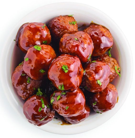 Meatballs with a Savory Glaze and Parsley