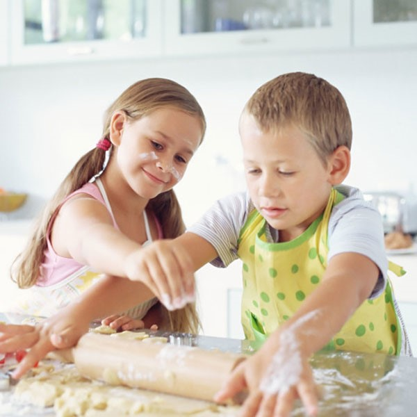 Children With Rolling Pin