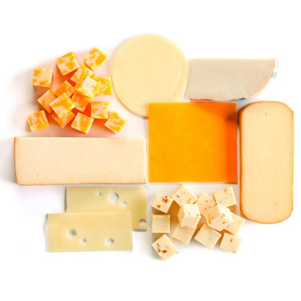 Sliced, Cubed, and Block Cheese in Assorted Colors