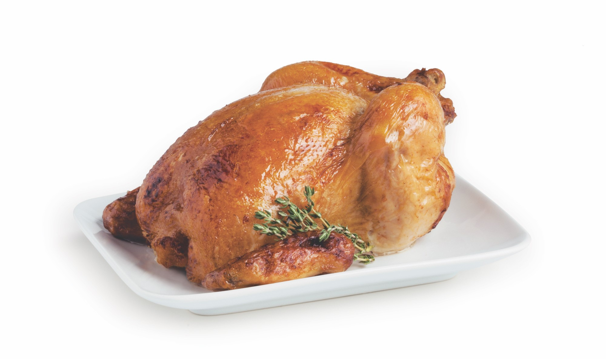 Rotisserie Chicken with Thyme Sprigs