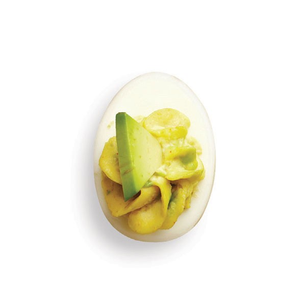 Deviled Egg with Avocado Slice