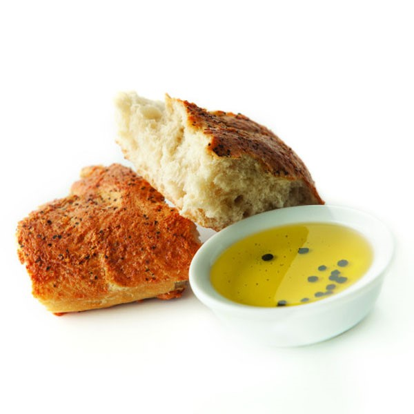 Baking Stone Asiago Black Pepper Parmesan Bread and Olive Oil