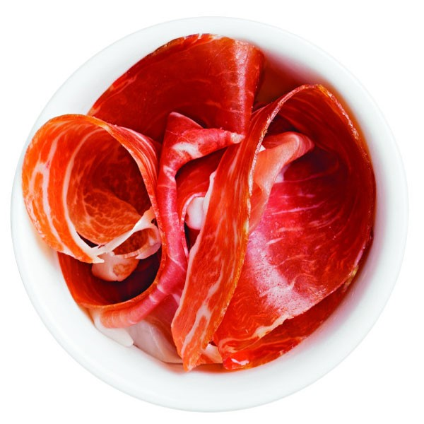 Prosciutto in Small Bowl